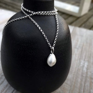 Sterling Silver Cowrie Shell Necklace