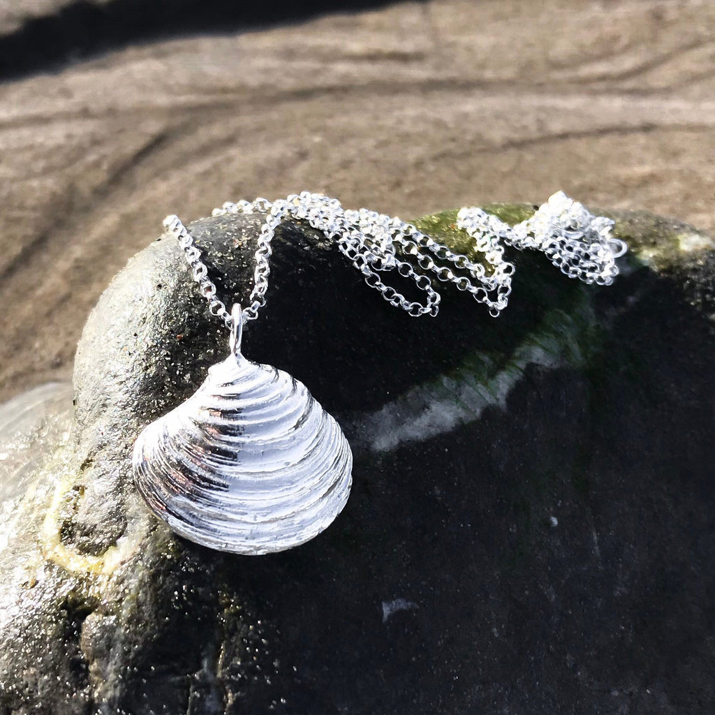 Sterling Silver Venus Clam Shell Necklace