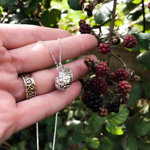 Sterling Silver Blackberry Necklace