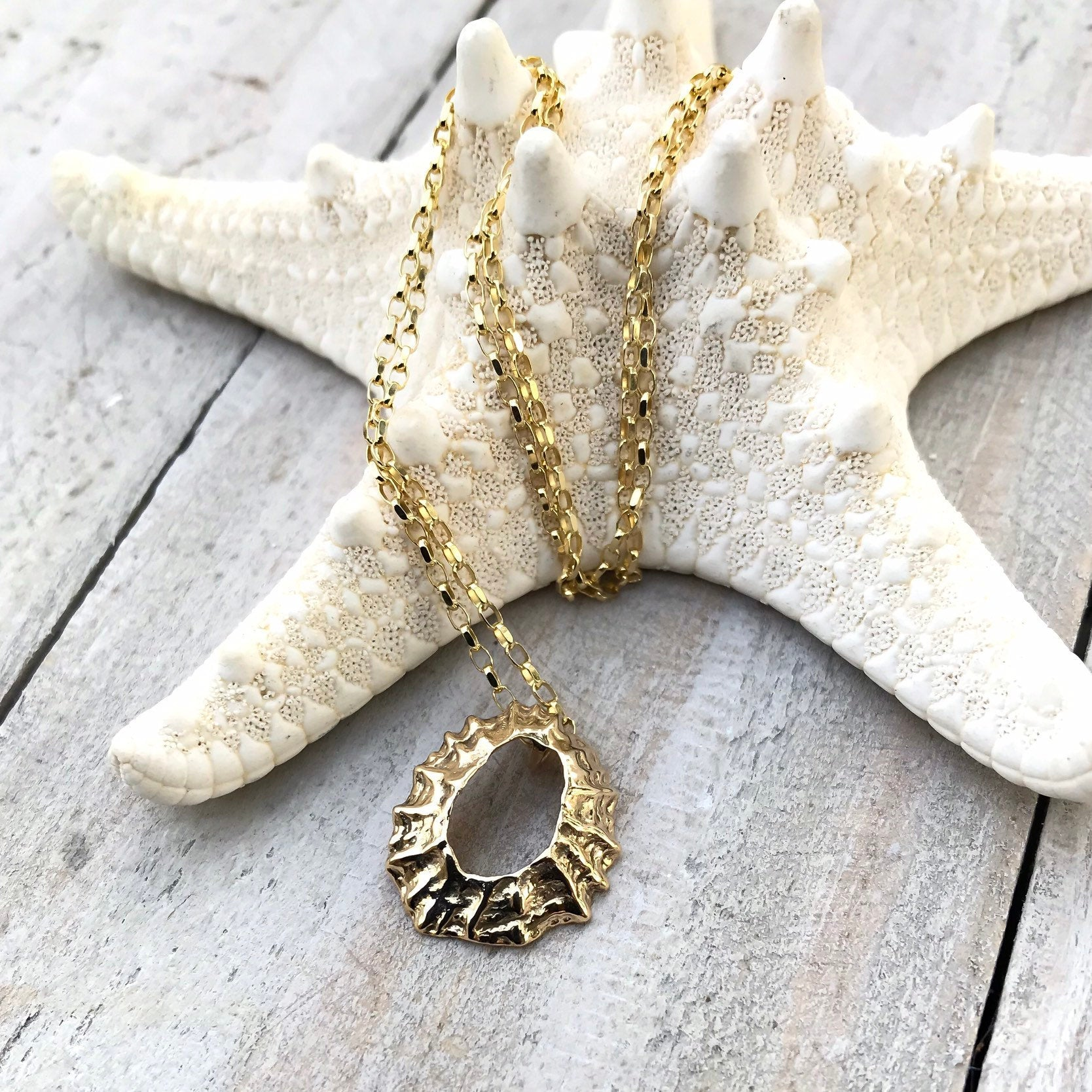 Gold Limpet Shell 'Manx Flitter' Necklace