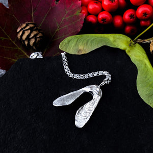 Sterling Silver Sycamore 'Helicopter Seed' Necklace