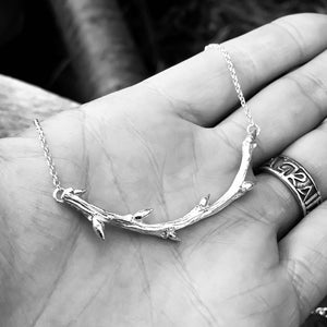 Sterling Silver Elm Twig Necklace