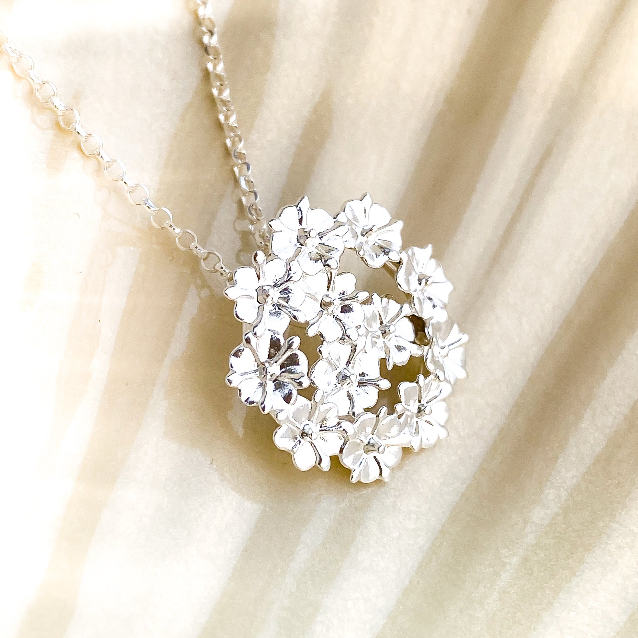 Silver Elderflower Necklace