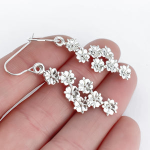 Elderflower Sterling Silver Drop Earrings