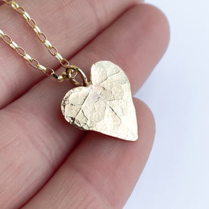 Gold Ivy Leaf Heart Necklace