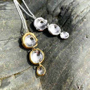 Triple Drop Droplet Necklace