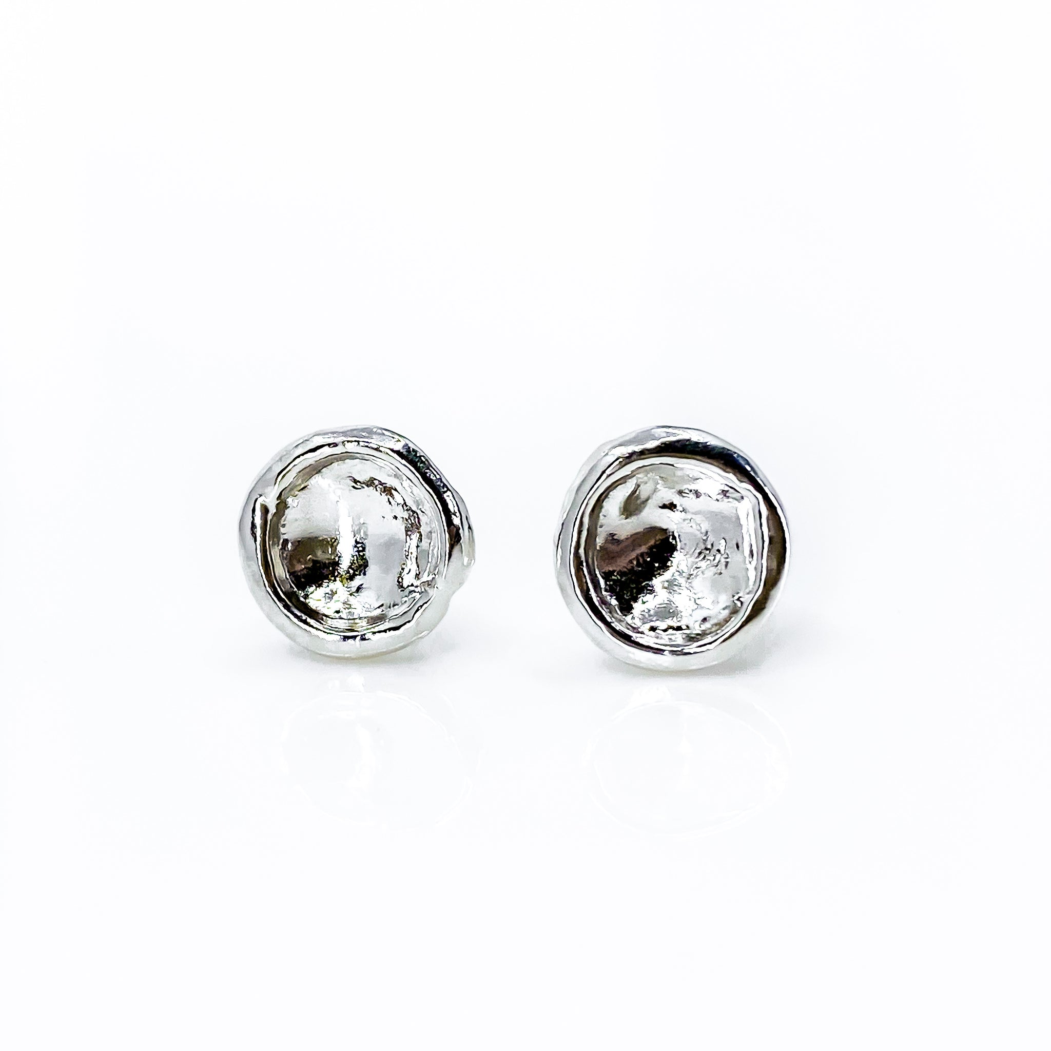 Sterling Silver Droplet Stud Earrings