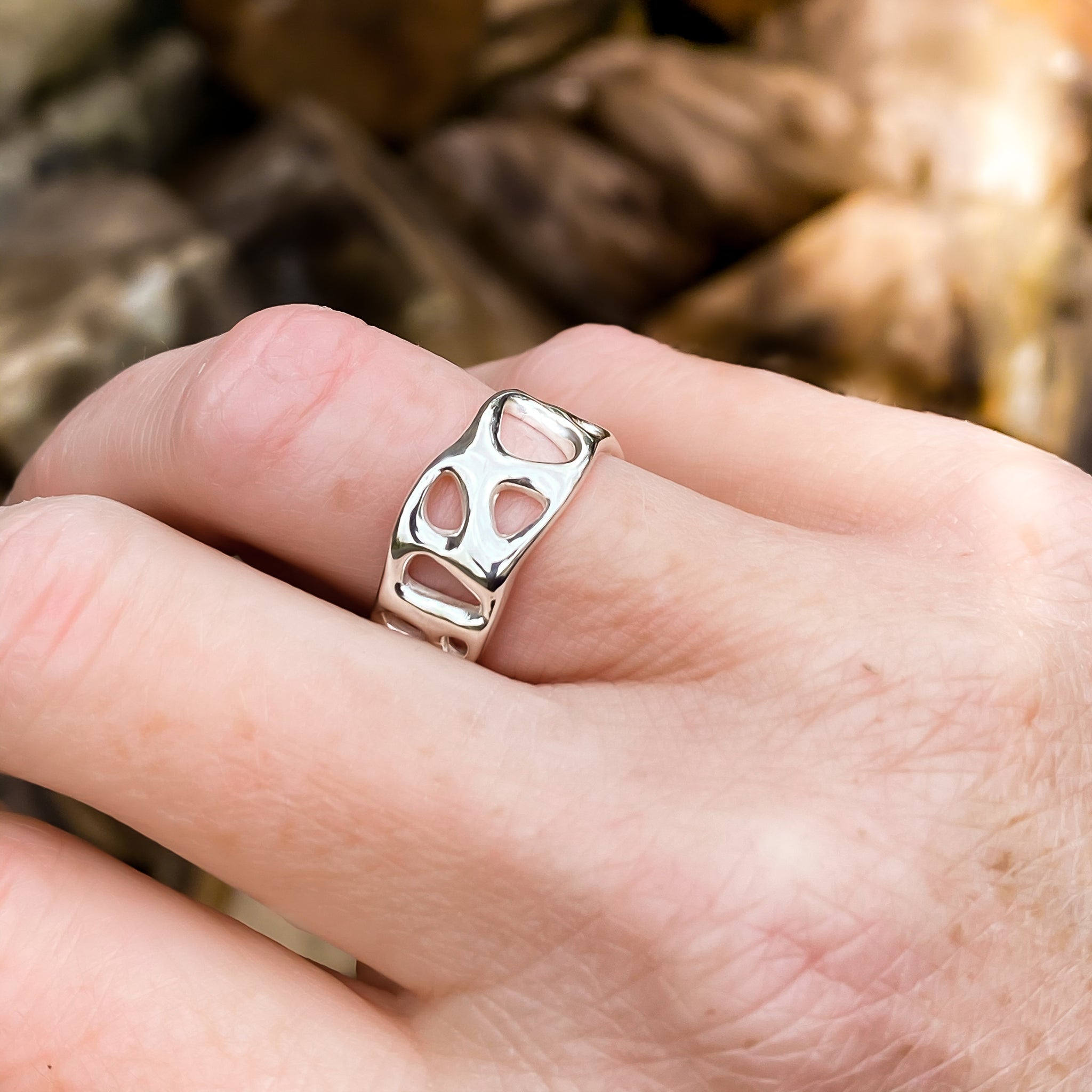 Rose Gold Infinity Ring - made to order
