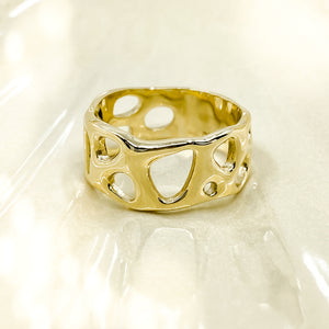 Gold Infinity Ring - made to order