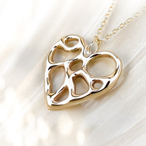 Gold Infinity Heart Necklace