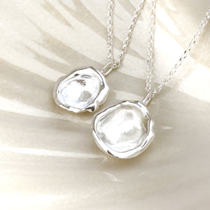 Sterling Silver Droplet Necklace