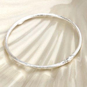 Sterling Silver Rowan Twig Bangle