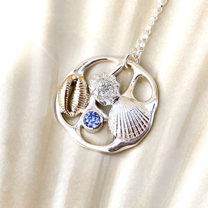 Beachcomber Sterling Silver and Gold Pendant Necklace - No. 1