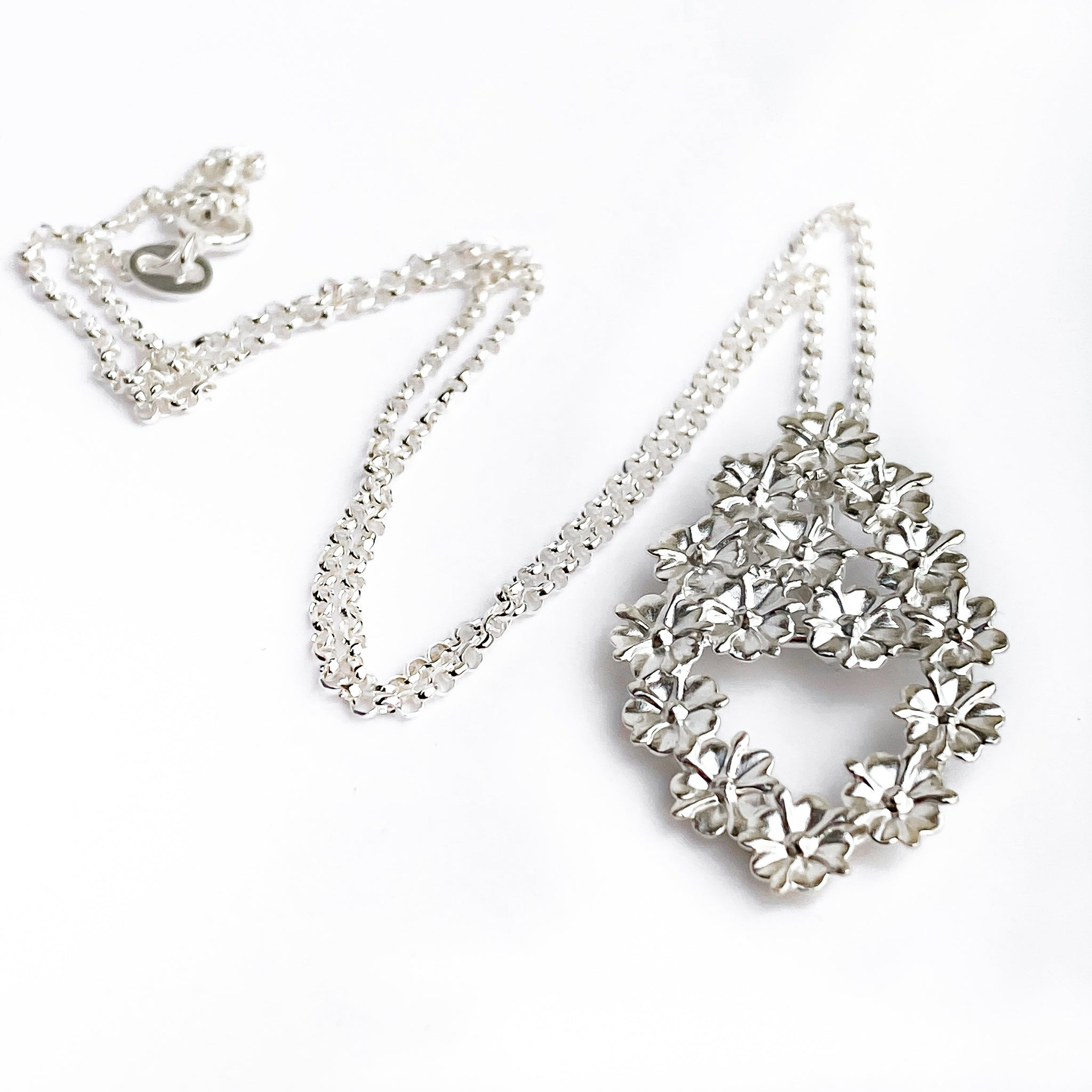 Elderflower Silver Pendant Necklace