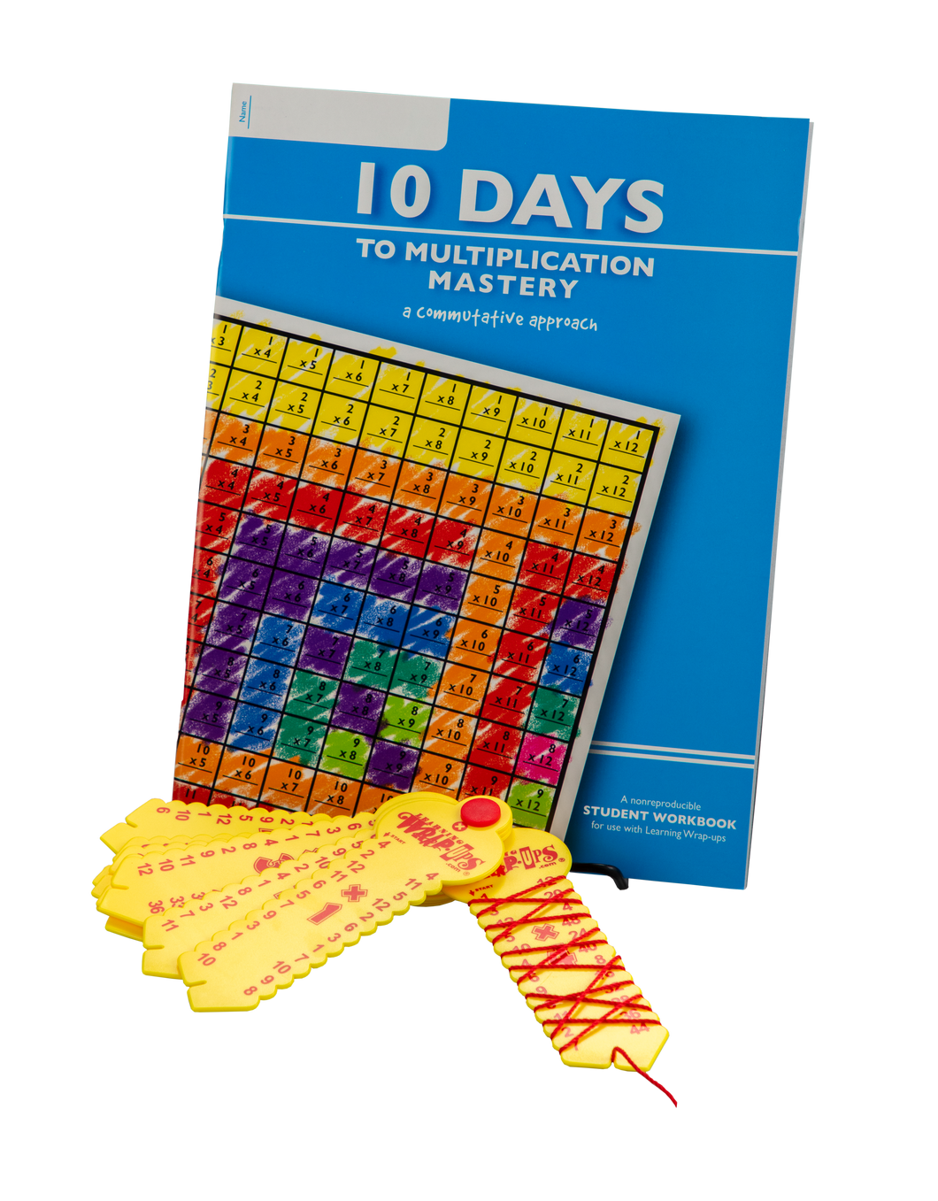 10 Days to Multiplication Mastery w-64 pg Workbook & Wrap-up Combo