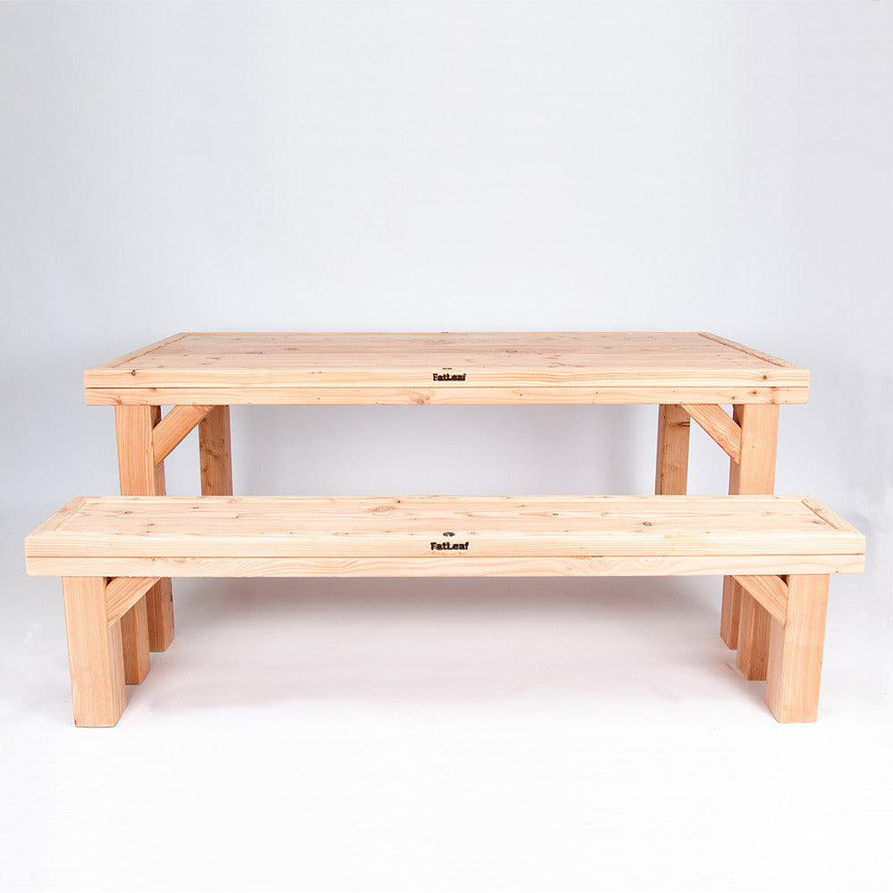 Garden Table and Bench (Cathedral Furniture Set - 8)