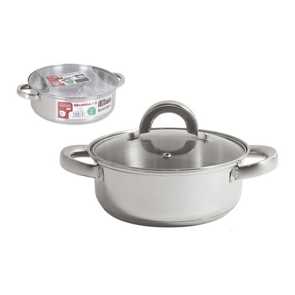 Casserole with glass lid Quttin Steel (ø 26 cm)