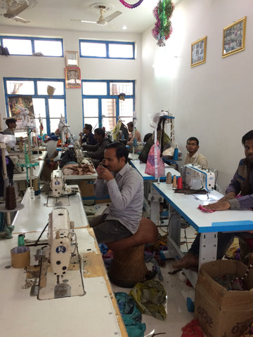 Emma's Emporium colourful festival fair trade clothing, inside our factory in India