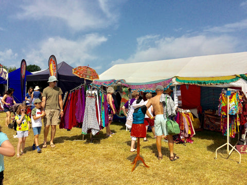 Emma's Emporium festival shop of alternative, ethnic and fair trade clothing, accessories and gifts