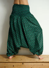 Load image into Gallery viewer, Peacock print Cotton HAREM TROUSERS