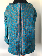 Load image into Gallery viewer, COAT - Recycled Sari winter jacket - BLUES