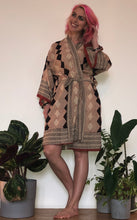 Load image into Gallery viewer, Emma's Emporium Kimono robe, hand block printed with natural dyes, 100% cotton, handmade in India