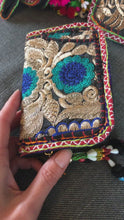 Load and play video in Gallery viewer, Purse - Decorated embroidered Indian clutch purse - Large