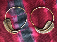 Load image into Gallery viewer, Earrings - Brass Tribal Gypsy  Spirals - Medium Size