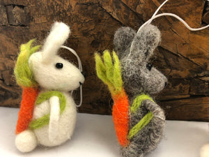 Hop Hop! Bunny Felt Decoration