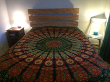 Load image into Gallery viewer, Bedspread - Peacock Mandala Print