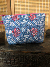 Load image into Gallery viewer, Indian Block Print Cotton Wash Bag