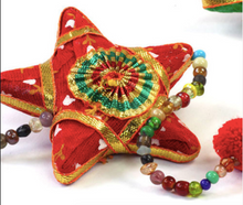 Load image into Gallery viewer, Emma's Emporium decorative hanging star decoration, handmade in India