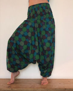 Print cotton Harem Trousers available to buy from Emma's Emporium