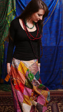 Load image into Gallery viewer, Skirt - Patchwork Wrap Skirt, Recycled Sari Silk