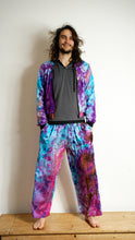 Load image into Gallery viewer, Emma's Emporium tie dye drawstring trousers, unisex, hippy pants. Colourful festival clothing.