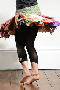 Emma's Emporium multi coloured recycled sari hanky tutu skirt