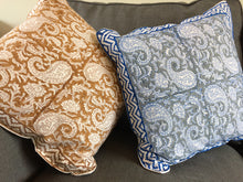 Load image into Gallery viewer, Emma's Emporium Indian Ethnic Paisley block print cushion cover