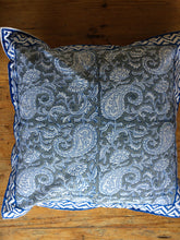 Load image into Gallery viewer, Cushion Cover - Block Printed Paisley