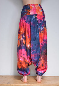 HAREM TROUSERS - Tie Dye Cotton