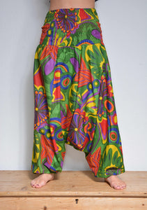 HAREM TROUSERS - Print Cotton