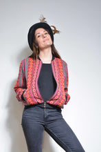 Load image into Gallery viewer, Bomber Jacket - Geometric Woven Cotton