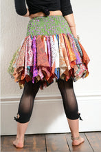 Load image into Gallery viewer, Emma's Emporium multi coloured recycled sari hanky tutu skirt