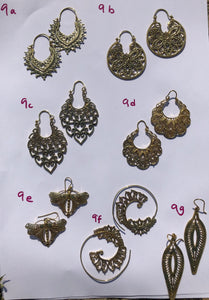 Earrings - Intricate Spirals & Hoops