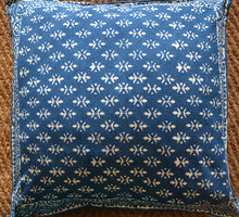Load image into Gallery viewer, Cushion Cover - Hand block printed Indigo