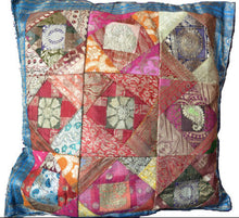 Load image into Gallery viewer, Cushion Cover - Sari Patchwork