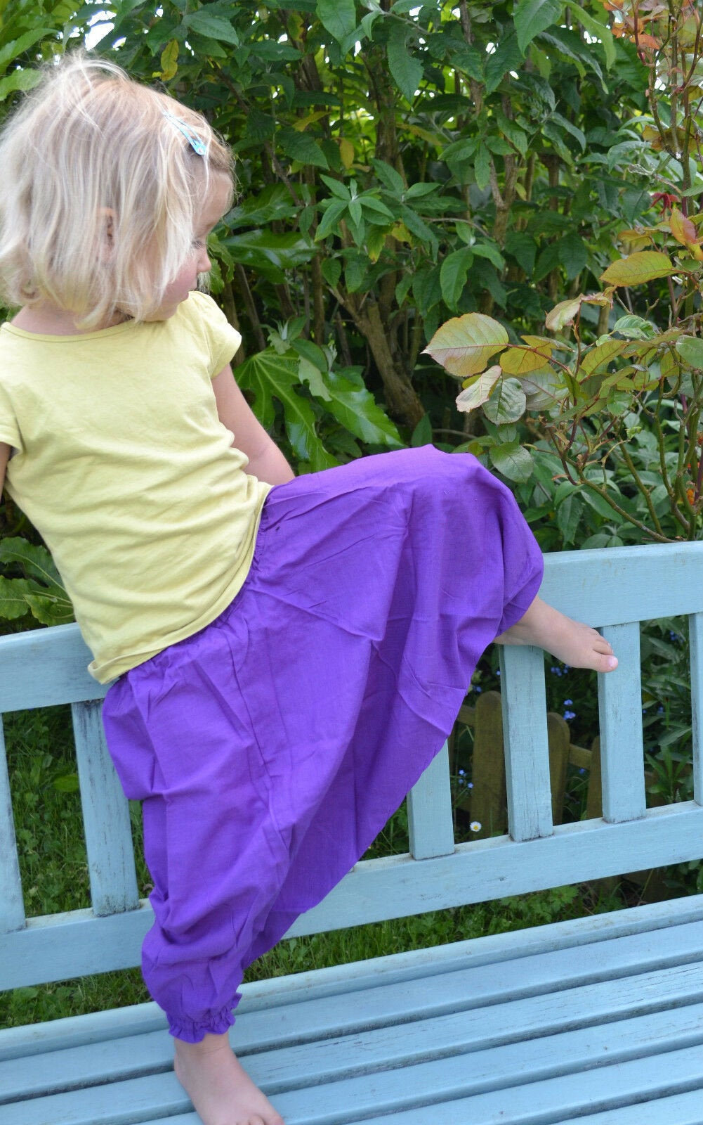 Children's HAREM TROUSERS - Plain Cotton