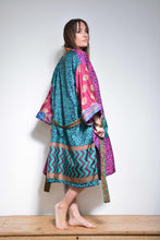 Load image into Gallery viewer, Kimono, Recycled Sari, Indian, Gown, Loungewear