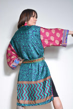 Load image into Gallery viewer, Emma's Emporium Kimono Gown, Loungewear. Ethical , Alternative, Festival & Boho Fashion.