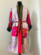 Load image into Gallery viewer, Sari Kimono Dressing Gown - Option E