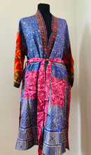 Load image into Gallery viewer, Sari Kimono Dressing Gown - Option F